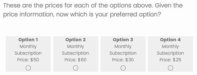 GMB survey monthly pricing