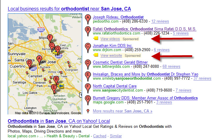 Google Maps Beta Test Enhancement Listings